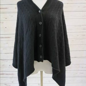 Vince Cashmere Cable Knit One Poncho